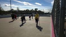 Post-game kids vs coaches Kids win!